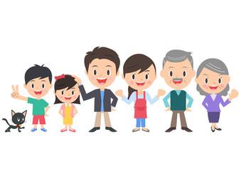 三世代家族と猫