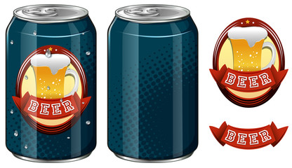 Cans of beer and logo design