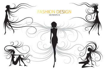 abstract fashion design black and white