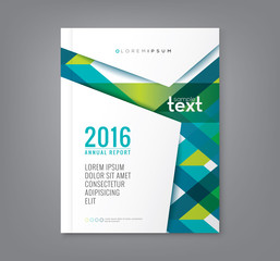 Abstract green banding line shape background for business annual report book cover poster flyer