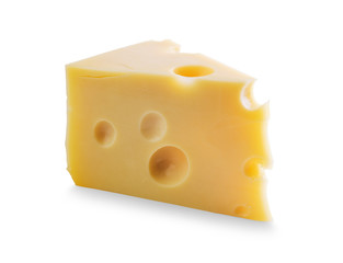 Piece of Cheese with holes