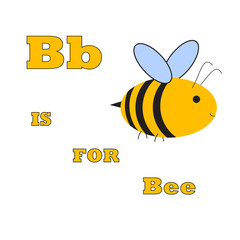 b is for bee abstract illustration for ABC vector