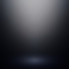 Abstract black gradient background. Used as background for product display - Vector