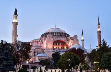 Hagia Sophia was a Greek Orthodox Christian patriarchal basilica (church), later converted into an Ottoman mosque, and now a museum in Istanbul, Turkey