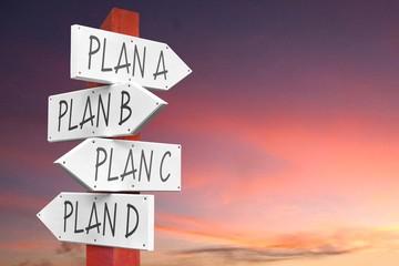 Obraz Plan A, B, C, D - concept - fototapety do salonu