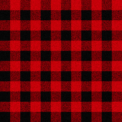 Classic lumberjack plaid vector seamless pattern