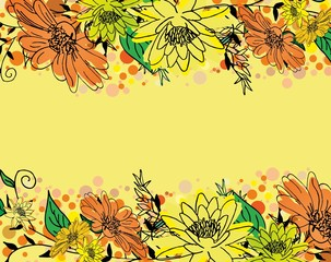 Obraz Decorative sweet abstract flower vector background - fototapety do salonu