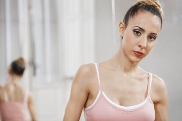 Confident Female Ballet Dancer At Studio