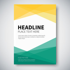 Cover design with abstract colorful geometry on background