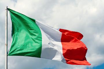 Italienische Fahne im Wind