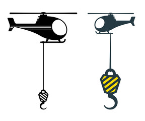 Two heavy duty hooks suspended from choppers