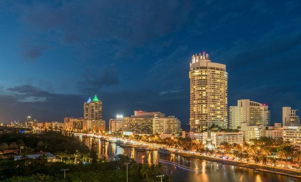 Modern condos, Miami Beach, Florida, USA