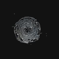 water drop radial 3d