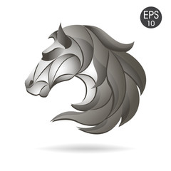 Horse head logo emblem. Symbol for business.