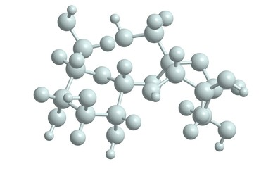 Molecular structure of sucrose (table sugar), 3D rendering