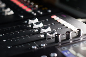 Mixing Console - faders