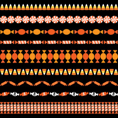 Halloween Candy Border Patterns