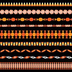 Halloween Candy Border Patterns