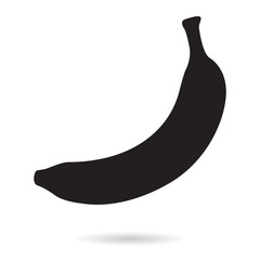 Banana. Silhouette icon