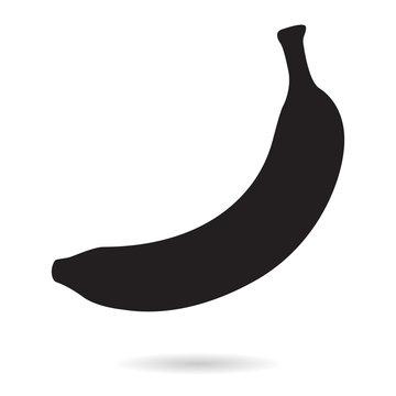 Banana. Silhouette icon