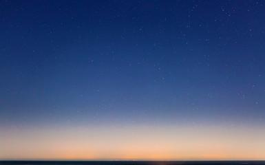 Starry Sky and the Sicily Coastline