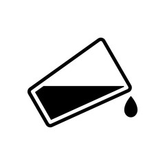 glass and flowing water icon