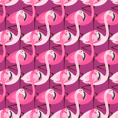 purple flamingo pattern