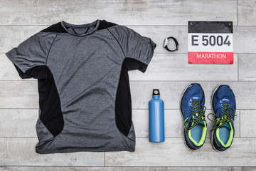 Marathon kit, top view