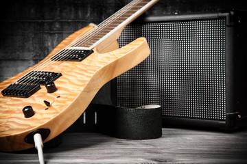 Fotoväggar - Electric guitar and amplifier