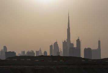 cityscape of Dubai at sunset
