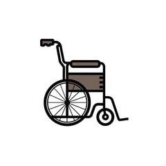 Wheelchair vector illustration. Wheelchair icon