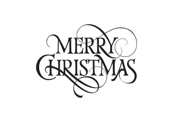 Merry Christmas Lettering 1