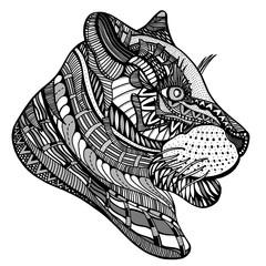 Hand-drawn tiger