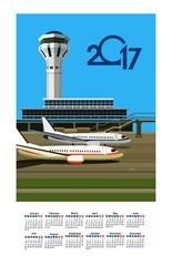 2017 Calendar Airport
