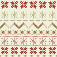 Winter fair isle pattern