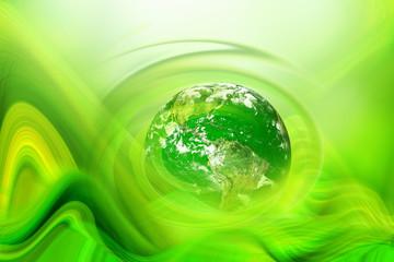 globe in green