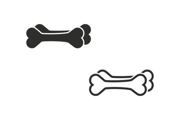 Dog bone - vector icon.