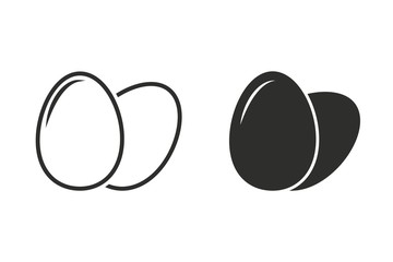 Egg - vector icon.