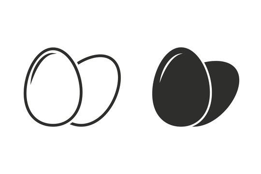 Egg - vector icon.