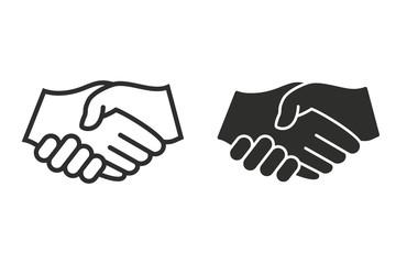 Handshake - vector icon.