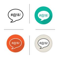Dirty language icon