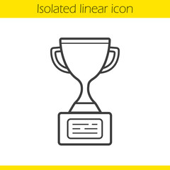 Champion cup linear icon