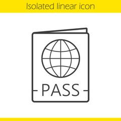 International passport linear icon
