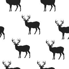 seamless background. deer