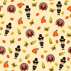 Thanksgiving seamless wallpaper
