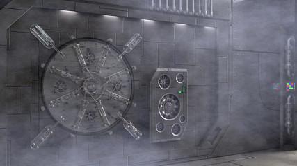 Sci Fi Hatch - Smokey A sci fi inspired hatch in side a large smokey space station.