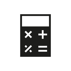 calculator icon on white background