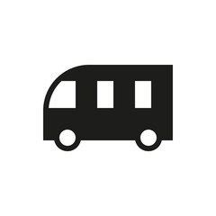School Bus icon on white background