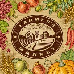 Vintage Farmer's Market Label