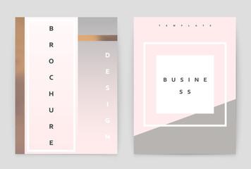 Layout design template, annual report brochure. Business flyer design template.